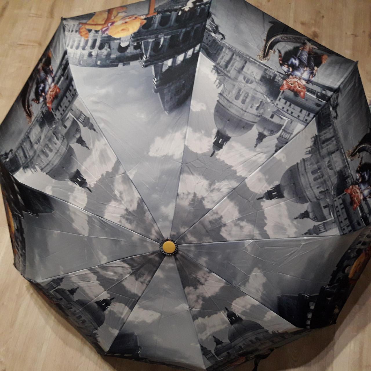 Зонт полуавтомат с принтом