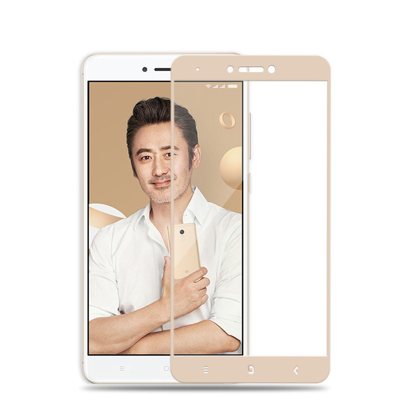 Защитное стекло Xiaomi Redmi Note 4X / Note 4 Global Full cover золото