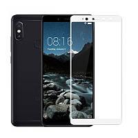 Защитное стекло Xiaomi Redmi S2 / Redmi Y2 5.99'' Full cover белый 0,26мм в упаковке