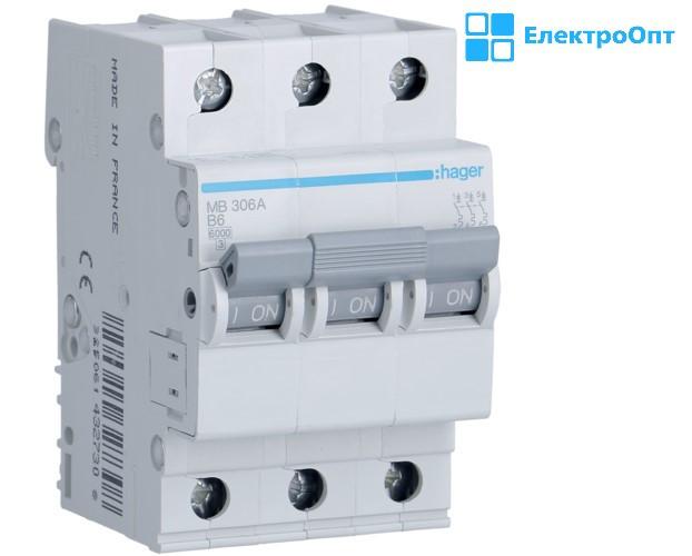 Автоматичний вимикач MBN310 автомат hager ( хагер )
