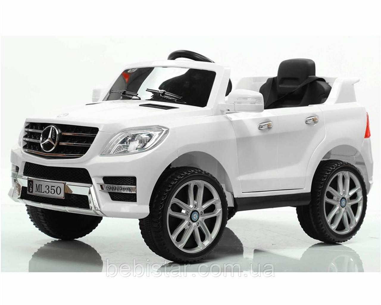 Детский электромобиль белый Джип Т-7829 WHITE мотор 1*25W аккумулятор 6V4.5AH деткам 3-8 лет с МР3