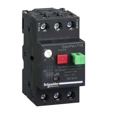 Автоматичний вимикач 1 - 1.6A захисту двигуна GZ1E06