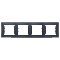Рамка четырехместная горизонтальная Черный Schneider Sedna (sdn5800770), фото 1
