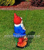 Садовая фигура Гном рыбак, фото 3