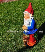 Садовая фигура Гном рыбак, фото 2