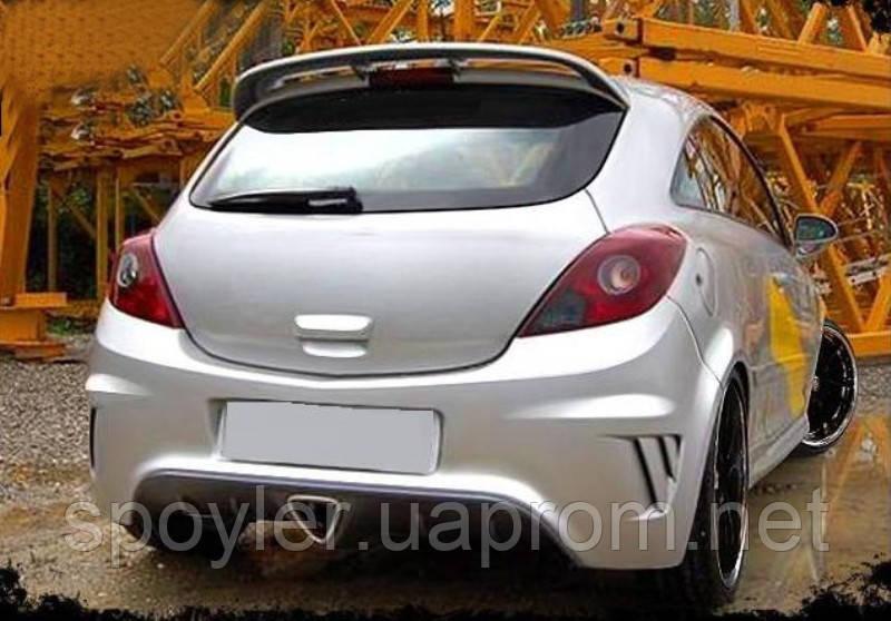 Задний бампер для Opel Corsa D (2006-...)  - Интернет-магазин «Спойлера на все авто» в Киеве