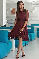 Женское Платье (141)665. (2 цвета) Ткань: креп + сетка + перфорация + термо фотопечать. Размеры: 44, 46, 48, 50., фото 2