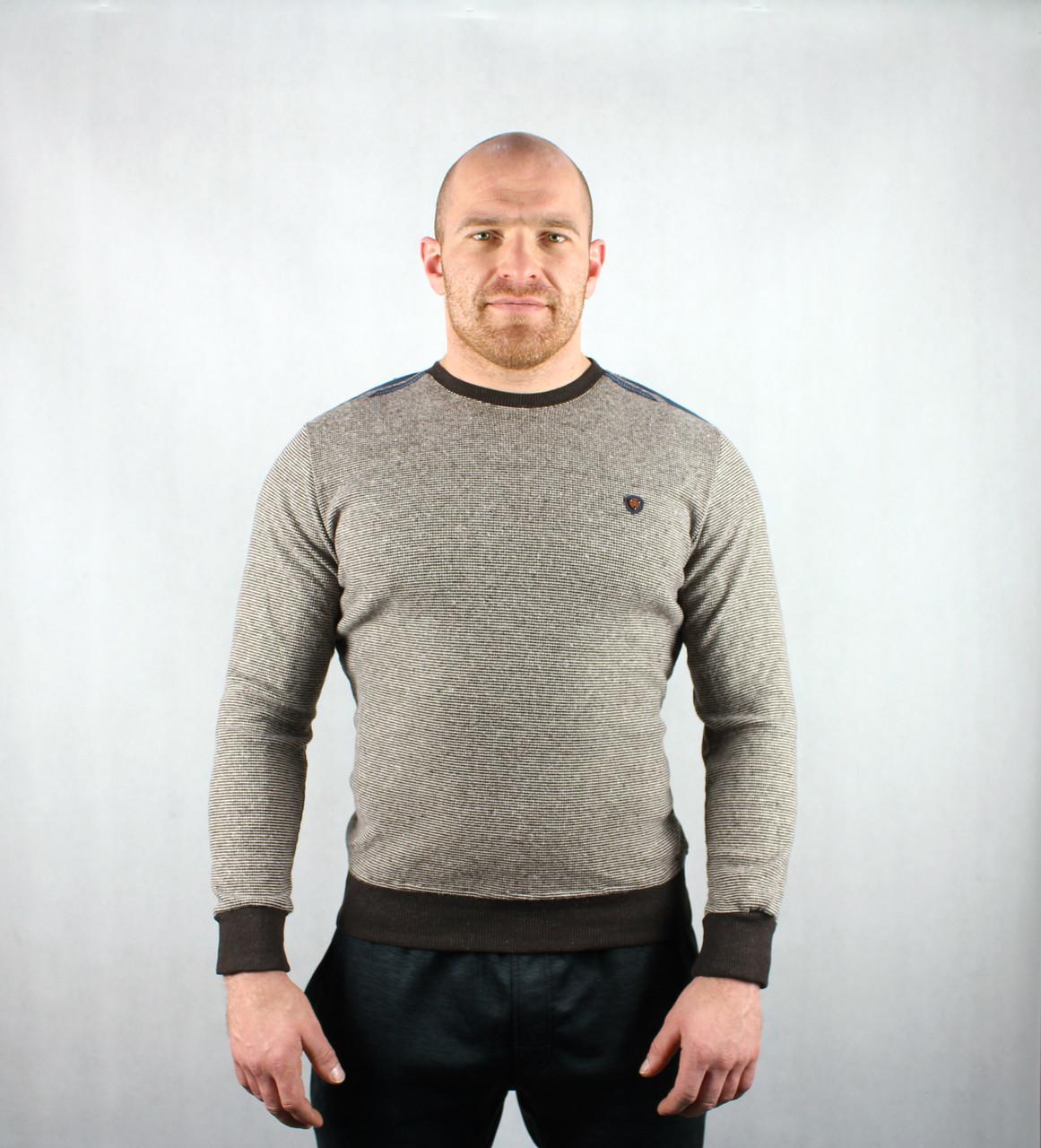 Полосатый демисезонный мужской свитер