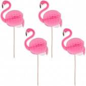 """Зонтик для коктейля """"Фламинго"""", 4 штуки, фото 2"""