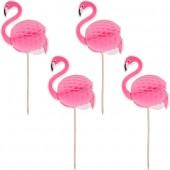 """Зонтик для коктейля """"Фламинго"""", 4 штуки"""