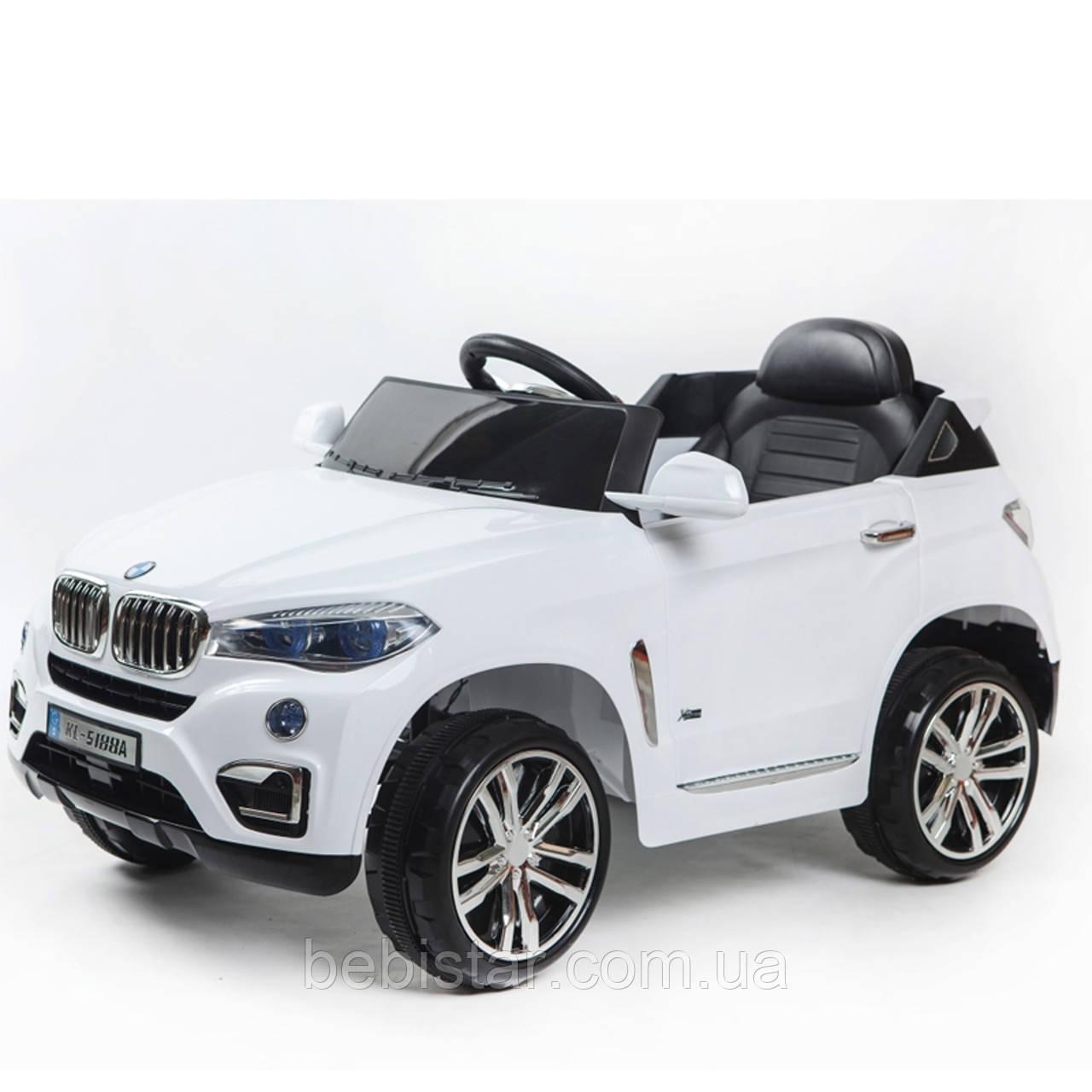 Детский электромобиль белый Джип T-788 EVA WHITE мотор 2*25W аккумулятор 2 х 6V4.5AH деткам 3-8 лет с МР3