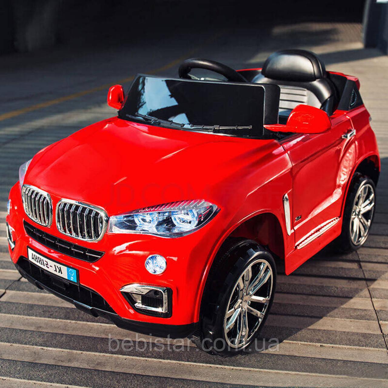 Детский электромобиль красный Джип T-788 EVA RED мотор 2*25W аккумулятор 2*6V4.5AH деткам 3-8 лет с МР3
