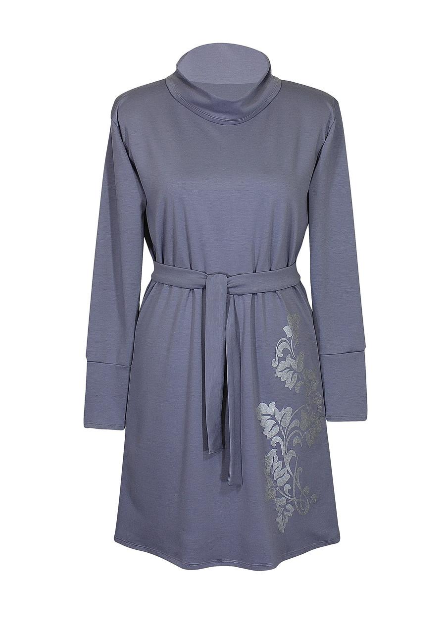 Платье с воротником и манжетами Лоза батал