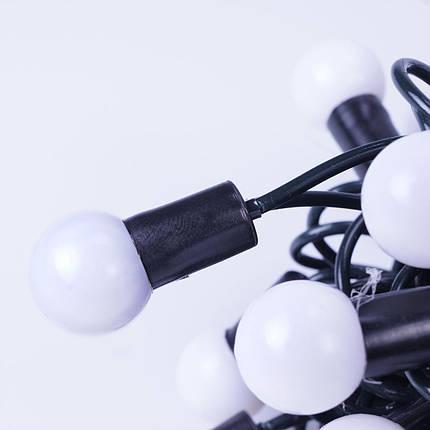 Новогодние шарики 100LED,  белый холодный свет, фото 2