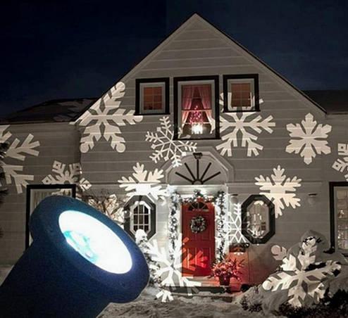 Лазерный проектор STAR SHOWER снежинки LED, фото 2