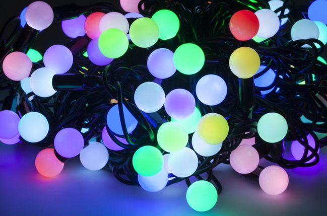 Новогодняя гирлянда 200 LED / 20 м, Разноцветный свет, фото 2