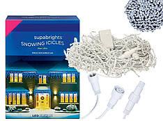 Новогодняя гирлянда Бахрома 500 LED, Белый холодный свет 24 м