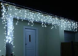 Новогодняя гирлянда Бахрома 500 LED, Белый холодный свет 24 м, фото 2