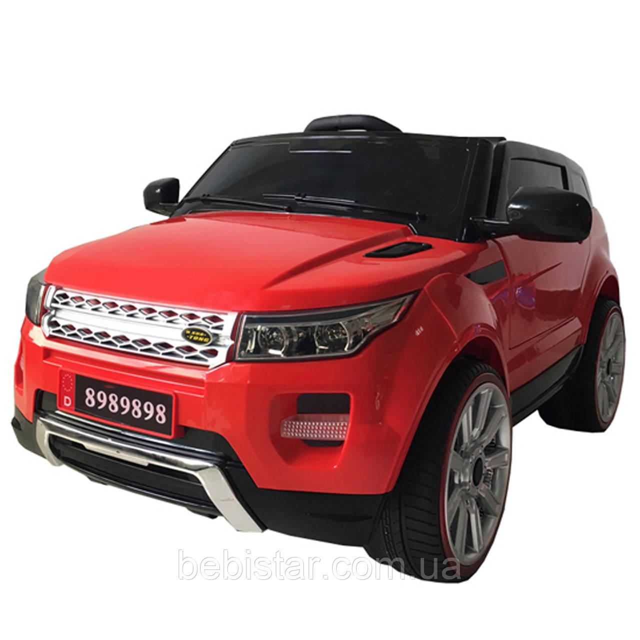 Дитячий електромобіль червоний Джип T-783 RED мотор 2*15W акумулятор 2*6V4.5AH діткам 3-8 років з МР3