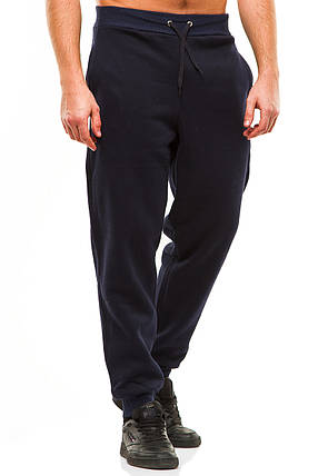 Мужские спортивные теплые  штаны 375 темно-синие, фото 2