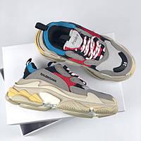 Balenciaga 17FW Tripe-S Dad Shoe Grey/Red/Blue   кроссовки женские и мужские; серые/красные/голубые баленсиага