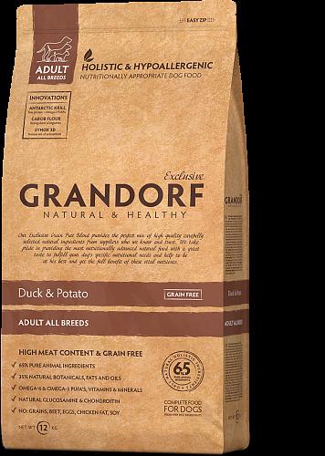 Grandorf (Грандорф) Sensitive Care Holistic Duck & Potato All Breeds корм для всех пород с уткой, 1 кг
