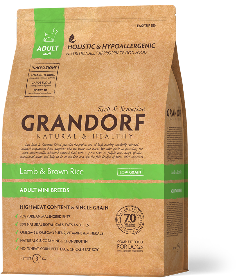 Grandorf (Грандорф) Sensitive Care Holistic Lamb & Brown Rice Mini корм для мини пород, 1 кг