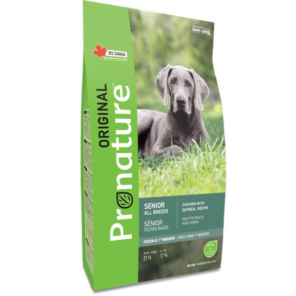 Pronature Original Dog Senior Chicken & Oatmeal корм для малоактивных и пожилых собак, 11.3 кг