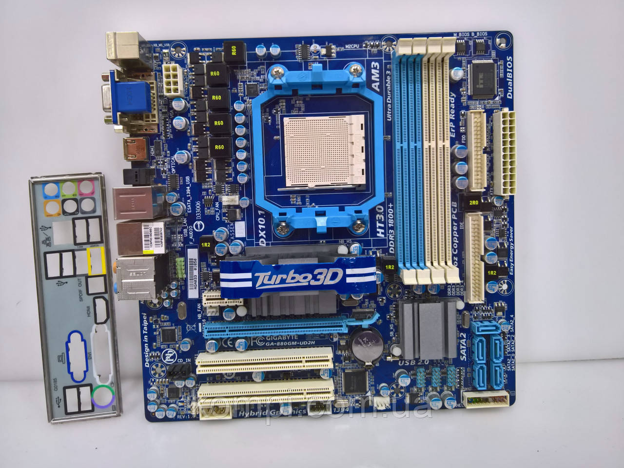 Материнская плата Gigabyte GA-880GM-UD2H AM3 Phenom X6 DDR3 HDMI