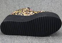 Стильные женские ботинки на платформе Ботильоны Леопардовые, фото 2