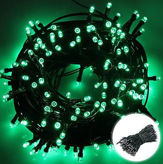 Новогодняя гирлянда 300 LED, IP44, Длина 24 М, Зеленый свет, фото 2