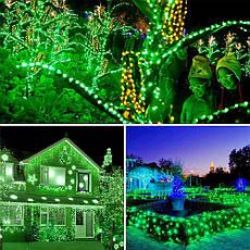 Новогодняя гирлянда 300 LED, IP44, Длина 24 М, Зеленый свет, фото 3