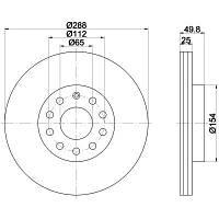 Тормозной диск передний на SKODA SUPERB (TEXTAR)