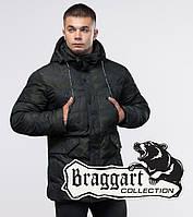 Куртка молодежная зимняя Braggart Youth - 25140 темно-зеленая