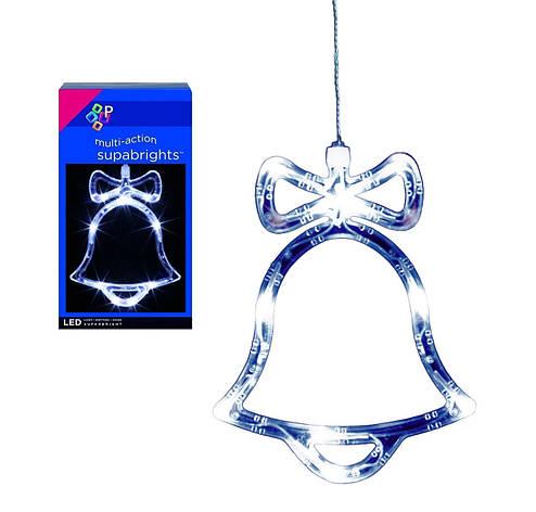 """Новогодняя гирлянда """"Колокольчик,елка,ангелочек"""" 15 LED, фото 2"""