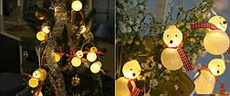 """Новогодняя гирлянда """"Снеговики"""" 10 LED, Длина 2M, фото 3"""