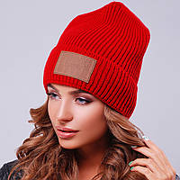 Красная шапка унисекс вязаная
