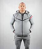 Мужской спортивный костюм серого цвета, фото 4