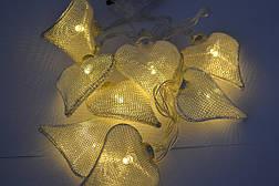 """Новогодняя гирлянда """"Сердца"""" 8 LED, Белый теплый свет, на пальчиковых батарейках, фото 3"""