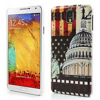 "Чехол накладка пластиковый на на Samsung Galaxy Note 3 N9000, ""USA The White House"""