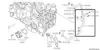 Трубка системы охлаждения Subaru Forester S12, 2007-2012, 14166AA060