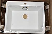 Мойка кухонная гранитная врезная Vered D-1000 White Granit, фото 1