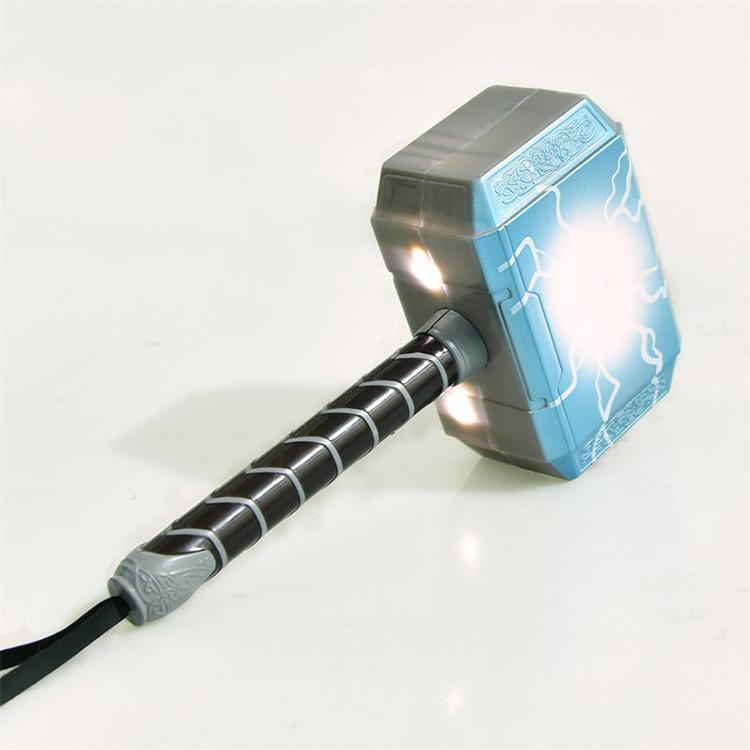 Молот Тора детский с подсветкой и звуковыми эфектами. Косплей Мстители