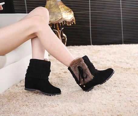 Элегантные замшевые ботинки  полусапожки, фото 2