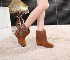 Элегантные замшевые ботинки  полусапожки, фото 3