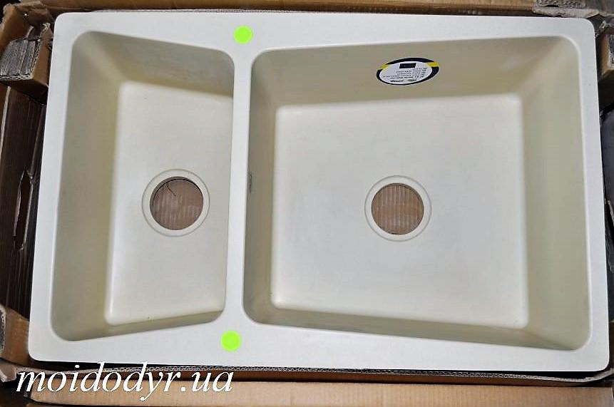 Мойка кухонная гранитная врезная Vered D-1501 Vanila Granit (Франция)