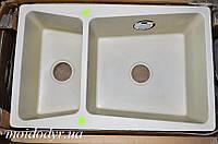 Мойка кухонная гранитная врезная Vered D-1501 Vanila Granit (Франция), фото 1