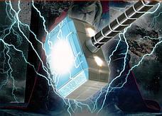 Молот Тора детский с подсветкой и звуковыми эфектами. Косплей Мстители, фото 2
