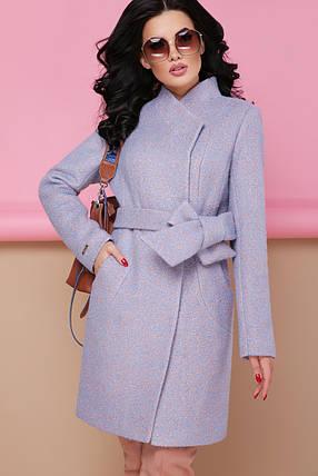 Женское пальто П-308 1228 голубой размер 42, фото 2