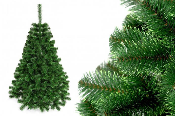 """Елка """"Польско-канадская зеленая"""" на пластиковой подставке + гирлянда в подарок, фото 2"""